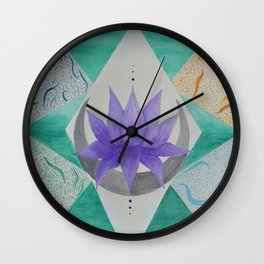 The 4 Elements Wall Clock