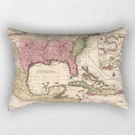 Mappa Geographica Regionem Mexicanam et Floridam (1740) Rectangular Pillow