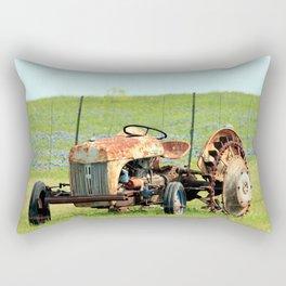 Old Tractor & Bluebonnets Rectangular Pillow