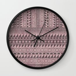 triangle kilim in pale pink Wall Clock