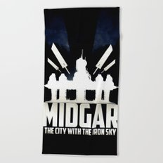 Final Fantasy VII - City with the Iron Sky Beach Towel