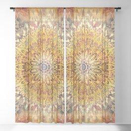 Cygnus Cosmic Mandala Sheer Curtain