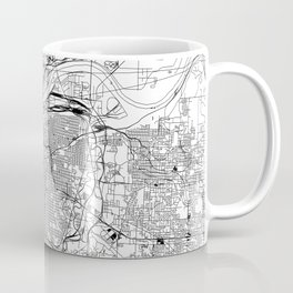 Kansas City White Map Coffee Mug