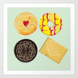 Biscuits Art Print