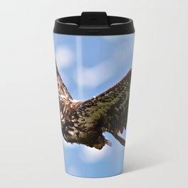 Flying Immature Bald Eagle Travel Mug