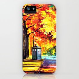 Tardis Stay Alone iPhone Case
