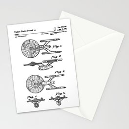 Spaceship toy Stationery Cards