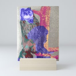 arcade owl [taxidermy circuit] Mini Art Print