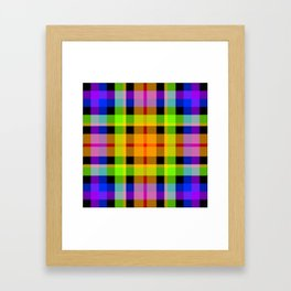 Bright Tartan, Squared Up Framed Art Print