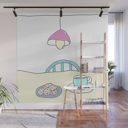 Hot beverage and cookies Wall Mural