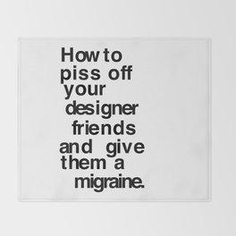 Designer Migraine Throw Blanket