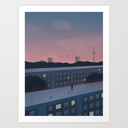 Berlin morning Art Print