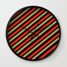 TEAM COLORS 1…red,gold black Wall Clock