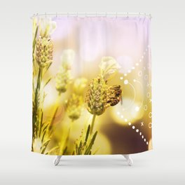 Bee at Home Shower Curtain