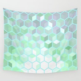 Hexagon Cube Tiles 64 Wall Tapestry