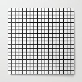 Grid (Black & White Pattern) Metal Print