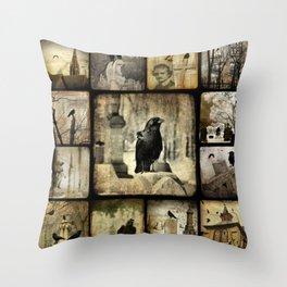 Gothic Squares Throw Pillow