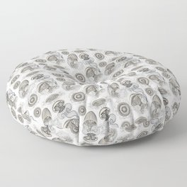 Ernst Haeckel Jellyfish Leptomedusae Silver  Floor Pillow