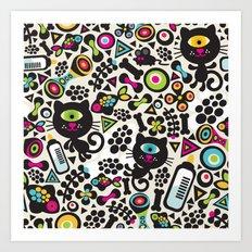 Black cats. Art Print
