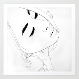 Goodbye(illustration) Art Print