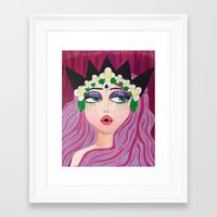 karen Framed Art Prints featuring Karen by ThePinkElefant