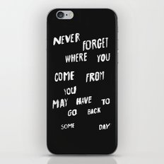 NEVERFORGET iPhone & iPod Skin