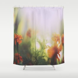 Marigolds in Ubud Shower Curtain