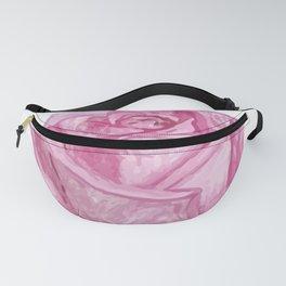 Pink Watercolor Rose Fanny Pack