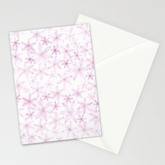 Flower in light pink pattern Stationery Cards