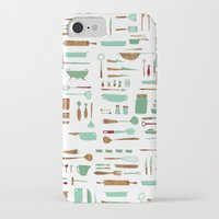 kitchen iPhone & iPod Cases featuring Kitchen by Mathilde Ruau