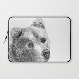 Shaggy Grizzly Bear Laptop Sleeve