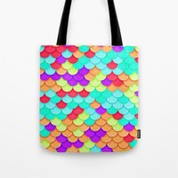 scales Tote Bags featuring Scales by White Wolf Wizard