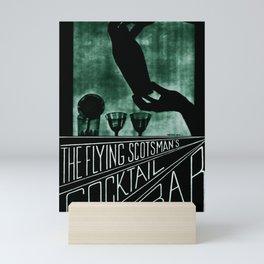 placard Flying Scotsman Cocktail Bar Mini Art Print