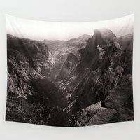 yosemite Wall Tapestries featuring Half Dome, Yosemite Valley, California by King Mountain