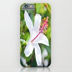 White Hibiscus iPhone 6 Slim Case