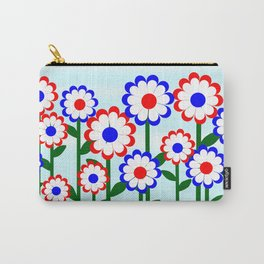 Retro Summer Flowers Carry-All Pouch