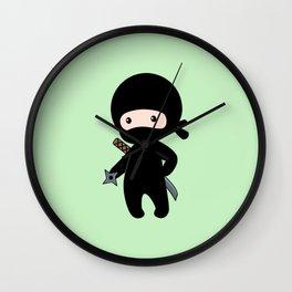 Tiny Ninja Wall Clock