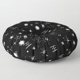 Black&White//Mixed Pattern #2 Floor Pillow