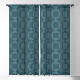 Beads Pattern - Teal Blue Green Blackout Curtain
