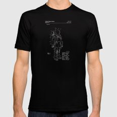 NASA Space Suit Patent - White on Black MEDIUM Mens Fitted Tee Black