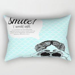 smile! (bright) Rectangular Pillow