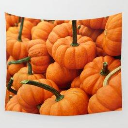 Autumn Pumpkins Wall Tapestry