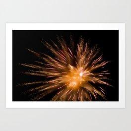Geometric Firework 4 Art Print