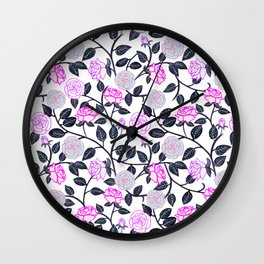 Rose Delight Wall Clock