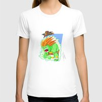 street fighter T-shirts featuring STREET FIGHTER - BLANCA by mirojunior