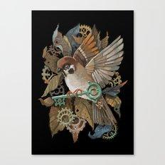 Clockwork Sparrow Canvas Print
