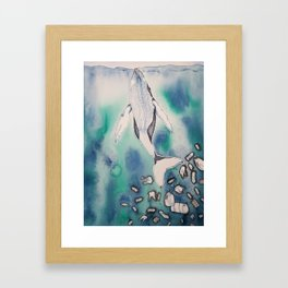 Drowning in Plastic Framed Art Print