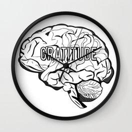 GRATITUDE Brain Wall Clock