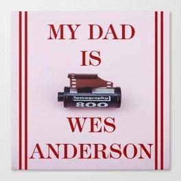 Wes Anderson Canvas Print