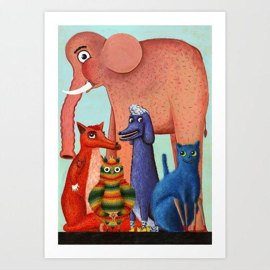 my dear friends Art Print